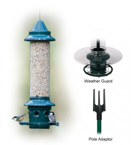 'Squirrel Buster Plus' feeder + Pole + Pole Adapter+ Rain Guard