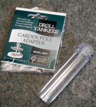 Droll Yankee garden pole adapter