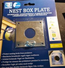 METAL NEST BOX PLATE 28MM HOLE